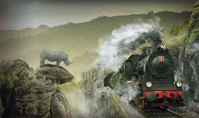 поезд, паровоз, железная дорога