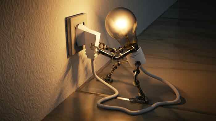 лампа, электричество, робот